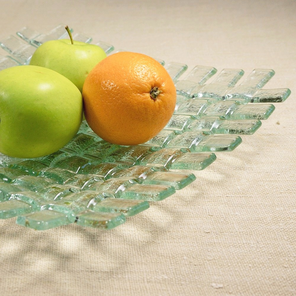 Round clear glass bowl CLARA