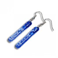 Glass earrings dark blue PARIS SLEV_N_038
