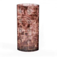 Brown glass vase TERRA
