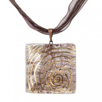 Glass pendant brown PZ0202