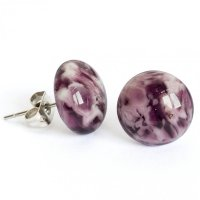 Glass earrings purple tabby PUZETY N1836
