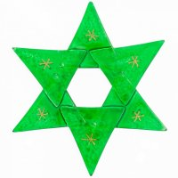 Christmas glass star in transparent green
