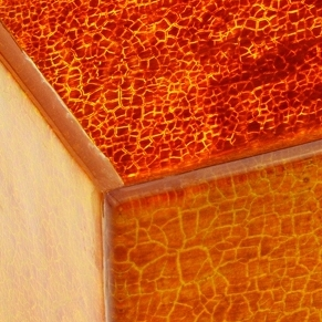 Glass jewellery boxes amber 03